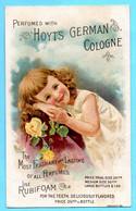 Chromo Trade Card Hoyt's German Cologne. Calendrier Calendar 1891, Année Complète,  Full Year. Fillette, Little Girl. - Small : ...-1900