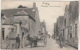 Cpa  41 Villerbon  Rue De Villejambon ( Attelage âne ) - Altri Comuni