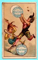 Petite Chromo, Little Trade Card J. Clark Spool Cotton. Semi Calendar 18.. First Semeste. Clowns - Small : ...-1900
