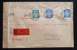 """DANZIG 1927, WERTBRIEF MiF DANZIG Gelaufen MÜNCHEN """"Siegel"""" - Danzig"""