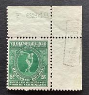OBP 179 5c + 5c Met Randinscripties F-6248 + DEPOT 1920 - Nuovi