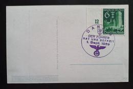 """Danzig 1939, Postkarte """"St. Martin In Danzig"""" DANZIG Sonderstempel """"Der Führer Hat Uns Befreit"""" - Covers & Documents"""