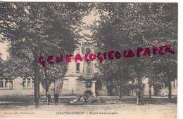 16- CHATEAUNEUF SUR CHARENTE- ECOLE COMMUNALE - MONUMENT AUX MORTS- EDITEUR PERROIS - Chateauneuf Sur Charente