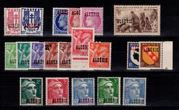 Algerie - YV 225 à 244 N** Complete Cote 12,50+ Euros - Unused Stamps