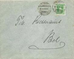 Lokaler Brief  Biel/Bienne          1908 - Cartas