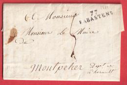 MARQUE 77 RABASTENS TARN TEXTE SIGNE DU MAIRE 1819 MONTPELLIER HERAULT - 1801-1848: Précurseurs XIX