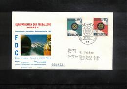 Schweiz / Switzerland 1967 Muerren Europatreffen Der Freiballone -  Deutschland Europa Cept Ballonpost FDC - FDC