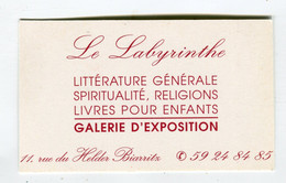 Carte De Visite °_ Carton-Le Labyrinthe-Librairie Générale-64 Biarritz - Visiting Cards