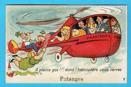 CPA PUTANGES A Pleins Gaz Dans L'hélicoptère Vous Verrez - 61 Orne - Dépliant Système - Putanges