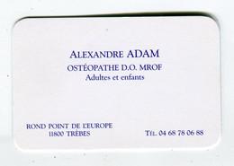 Carte De Visite °_ Carton-Ostéopathe Adultes Et Enfants-11 Trèbes - Visiting Cards