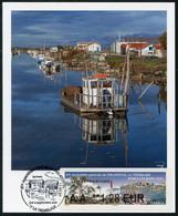 FRANCE (2021) Carte Maximum Card ATM LISA 69 Assemblée PHILAPOSTEL La Tremblade Ronce-les-Bains Centre Ostreicole Oyster - 2010-...