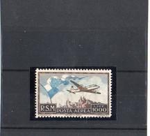 "1951 - SAN MARINO "" BANDIERA AEREO E VEDUTA  "" NUOVO MNH** VEDI++++ - Airmail"