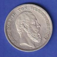 Deutsches Kaiserreich Württemberg König Karl Silbermünze 5 Mark 1875 F - Sin Clasificación