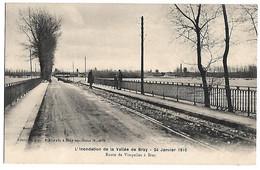 L'inondation De La Vallée De BRAY - 24 Janvier 1910 - Route De VIMPELLES à BRAY - Zonder Classificatie