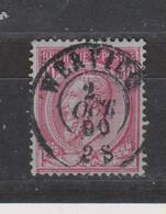 COB 46 Oblitération Centrale WERVICQ Double Cercle Superbe - 1884-1891 Leopold II.