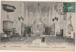 Cpa 35 Châteaugiron Intérieur De L'Eglise - Châteaugiron