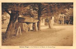 Carnac-Plage - Le Dolmen Et Le Menhir De Carnac-Plage - Carnac