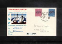 Schweiz / Switzerland 1972 Muerren Europatreffen Der Freiballone - Schweiz Europa Cept Ballonpost FDC - FDC