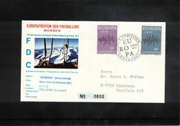 Schweiz / Switzerland 1972 Muerren Europatreffen Der Freiballone - Luxembourg Europa Cept Ballonpost FDC - FDC