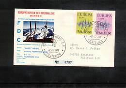 Schweiz / Switzerland 1972 Muerren Europatreffen Der Freiballone - Italy Europa Cept Ballonpost FDC - FDC