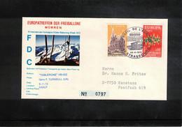 Schweiz / Switzerland 1972 Muerren Europatreffen Der Freiballone - France Europa Cept Ballonpost FDC - FDC