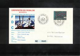 Schweiz / Switzerland 1972 Muerren Europatreffen Der Freiballone - Liechtenstein Europa Cept Ballonpost FDC - FDC