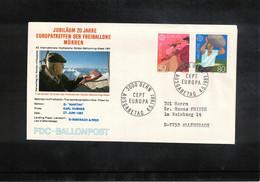 Schweiz / Switzerland 1981 Muerren Europatreffen Der Freiballone - Schweiz Europa Cept Ballonpost FDC - FDC
