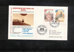Schweiz / Switzerland 1983 Muerren Europatreffen Der Freiballone - Liechtenstein Europa Cept Ballonpost FDC - FDC