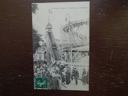 """Carte Assez Rare De 1912 , Marseille , Le Grand 8 Aérien , Départ Par Crémaillère ( Plaine St Michel  """""""" Carte Animée """""""" - Parcs Et Jardins"""