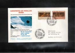 Schweiz / Switzerland 1985 Muerren Europatreffen Der Freiballone - Liechtenstein Europa Cept Ballonpost FDC - FDC