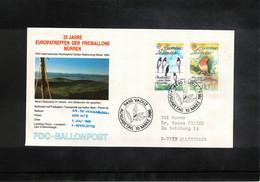 Schweiz / Switzerland 1986 Muerren Europatreffen Der Freiballone - Liechtenstein Europa Cept Ballonpost FDC - FDC