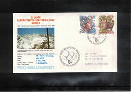Schweiz / Switzerland 1986 Muerren Europatreffen Der Freiballone - Schweiz Europa Cept Ballonpost FDC - FDC