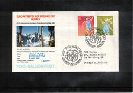 Schweiz / Switzerland 1989 Muerren Europatreffen Der Freiballone - Schweiz Europa Cept Ballonpost FDC - FDC