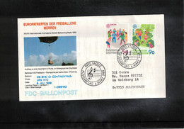Schweiz / Switzerland 1989 Muerren Europatreffen Der Freiballone - Liechtenstein Europa Cept Ballonpost FDC - FDC