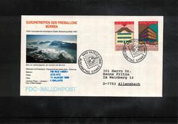 Schweiz / Switzerland 1990 Muerren Europatreffen Der Freiballone - Liechtenstein Europa Cept Ballonpost FDC - FDC