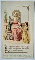 Image Pieuse Religieuse - Allons à Marie.. - Chocolaterie D'AIGUEBELLE - Devotion Images
