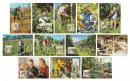 LIECHTENSTEIN 2003 Viniculture: Set Of 12 Maximum Cards CANCELLED - Cartoline Maximum