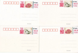 China 2021 The Flower - Peony ATM Label Stamps(TS71) Commemorative Cards(4v) - Omslagen