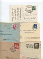 8403) 10 Belege Gesamtdeutschland - Poststempel - Freistempel