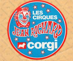 "Autocollant "" Les Cirques Jean Richard "" - Stickers"