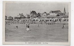 SAINT PAIR SUR MER - N° 18 - LA PLAGE ANIMEE - CPA VOYAGEE - Saint Pair Sur Mer