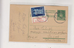 YUGOSLAVIA, 1945 SLAVONSKI BROD Priority Postal Stationery - Lettres & Documents