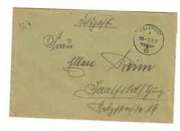 Sehr Frühe Feldpost, 10.09.39 Mit FPNr. 27658 Raum Sienno Nach Saalfeld - Bezetting 1938-45