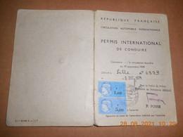 Permis International De Conduire Délivré A Lille Le 5.décembre 1974 Be - Unclassified