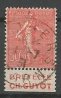 FRANCE Semeuse Type LV  N° 199 PUB GUYOT OBL - Pubblicitari