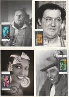 6 CARTES MAXIMUM - 1994 - Fernandel/Bourvil/Baker/printemps/Coluche/Montand. - 1990-99