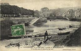 Landerneau Au Premier Plan ,à Gauche, Le Champ De Bataille à L'arrière Plan , Le Quartier Du Pont RV - Landerneau