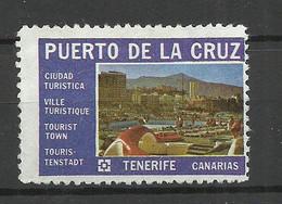 SPAIN Spanien Espana Puerto De La Cruz Tenerife Canarias Vignette Reklamemarke Avertising Stamp Tourism (*) - Sonstige