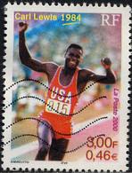 France Poste Obl Yv:3313 Mi:3457 Yv:0,6 Euro Carl Lewis 1984 (Lignes Ondulées) - Usados