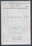 Fatura Concerto De Sapatos De 1936. Sapateiro Da Parede. 1936 Shoe Repair Invoice. Wall Shoemaker, Estoril. Schoenmaker - Portugal
